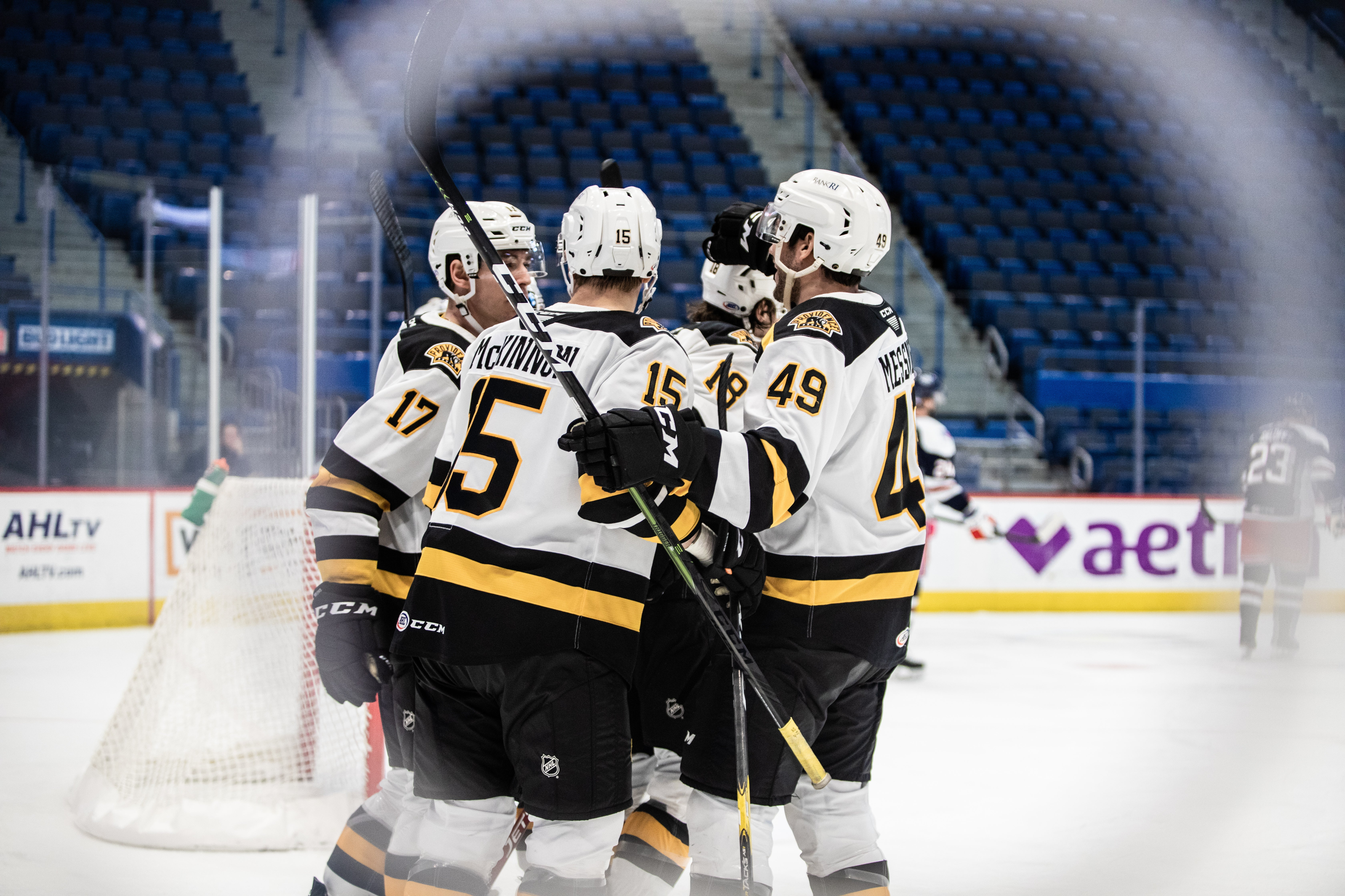 P-BRUINS CONTINUE TO LEAD DIVISION, DEFEAT HARTFORD WOLF PACK, 6-1