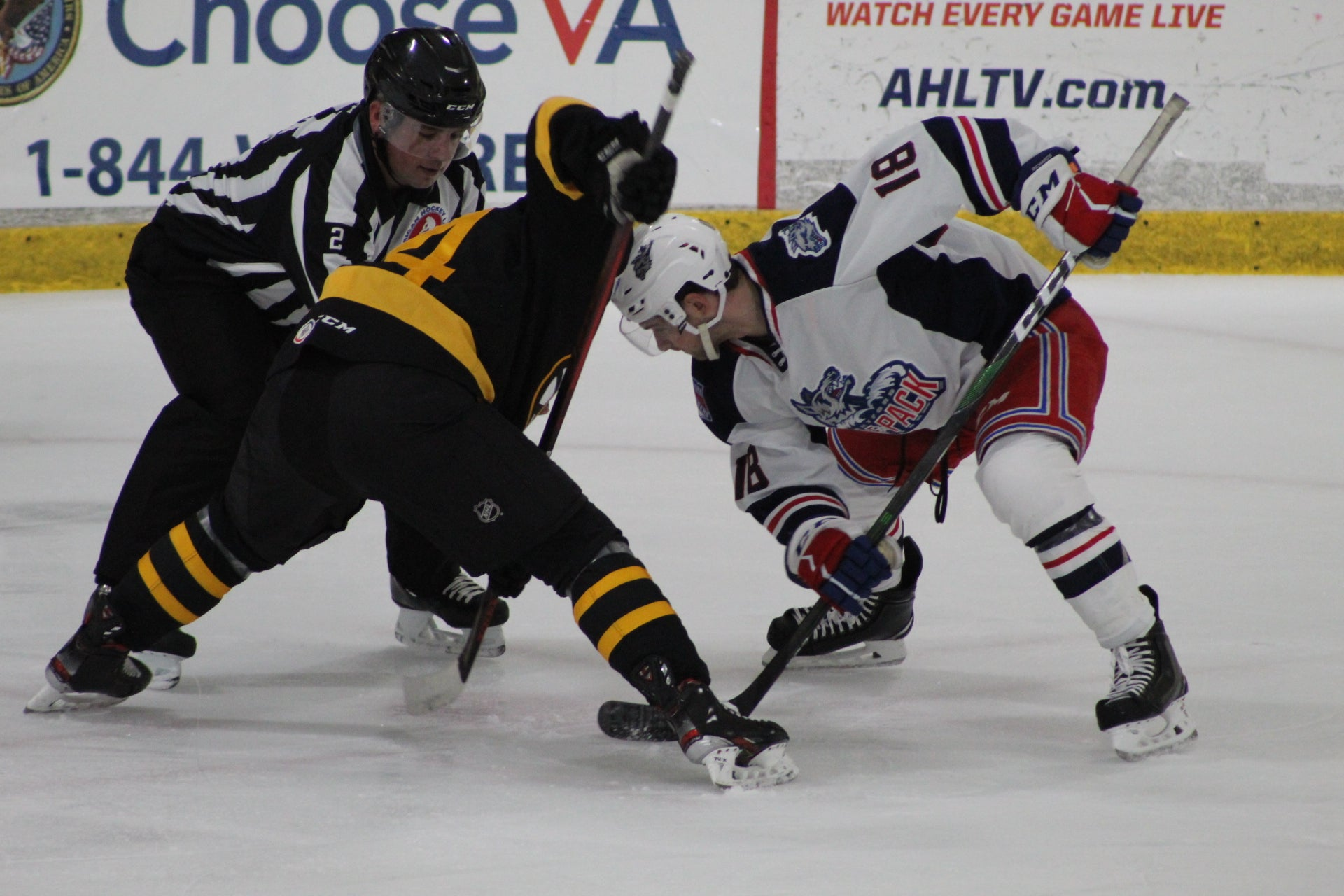 HARTFORD WOLF PACK SCORE THREE FIRST PERIOD GOALS, TAKE DOWN P-BRUINS, 4-2