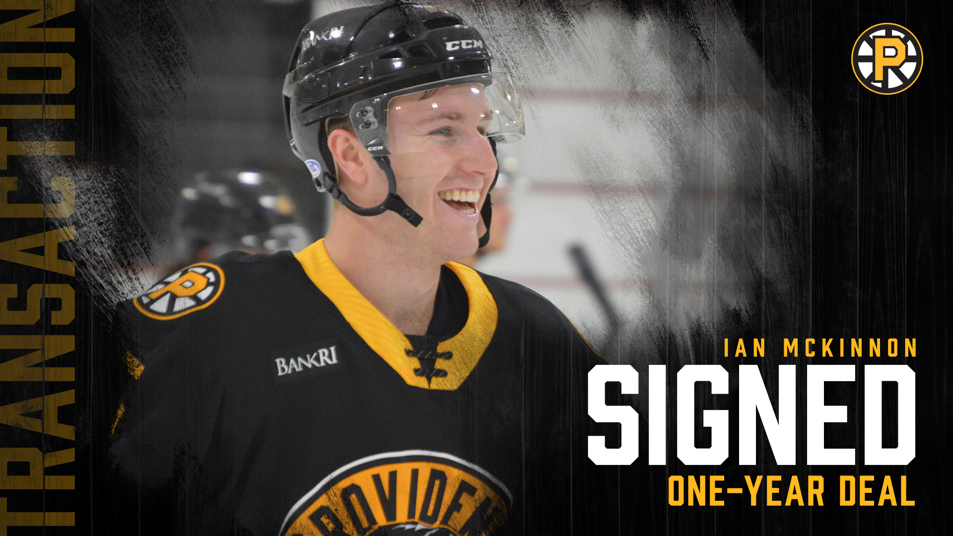 PROVIDENCE BRUINS SIGN IAN MCKINNON TO ONE-YEAR AHL CONTRACT
