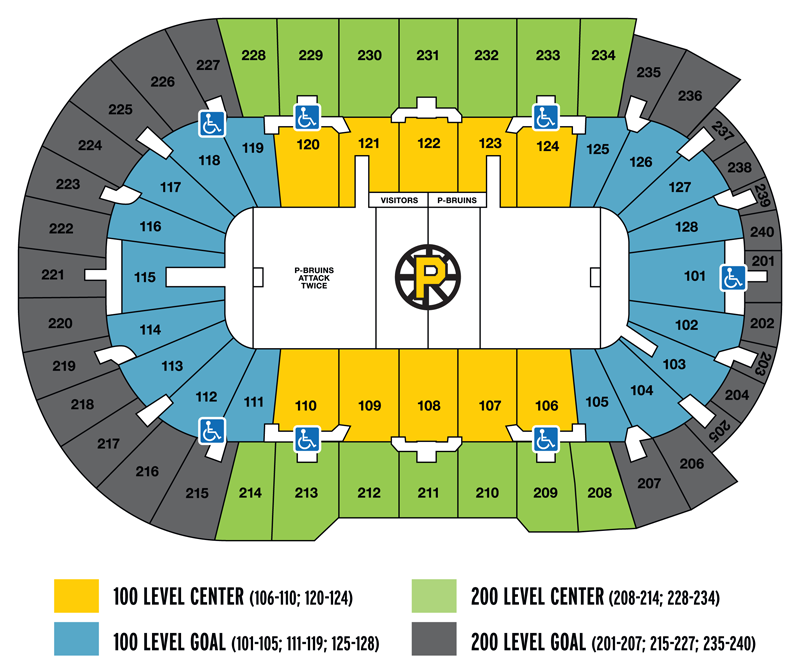 Seating map providence bruins
