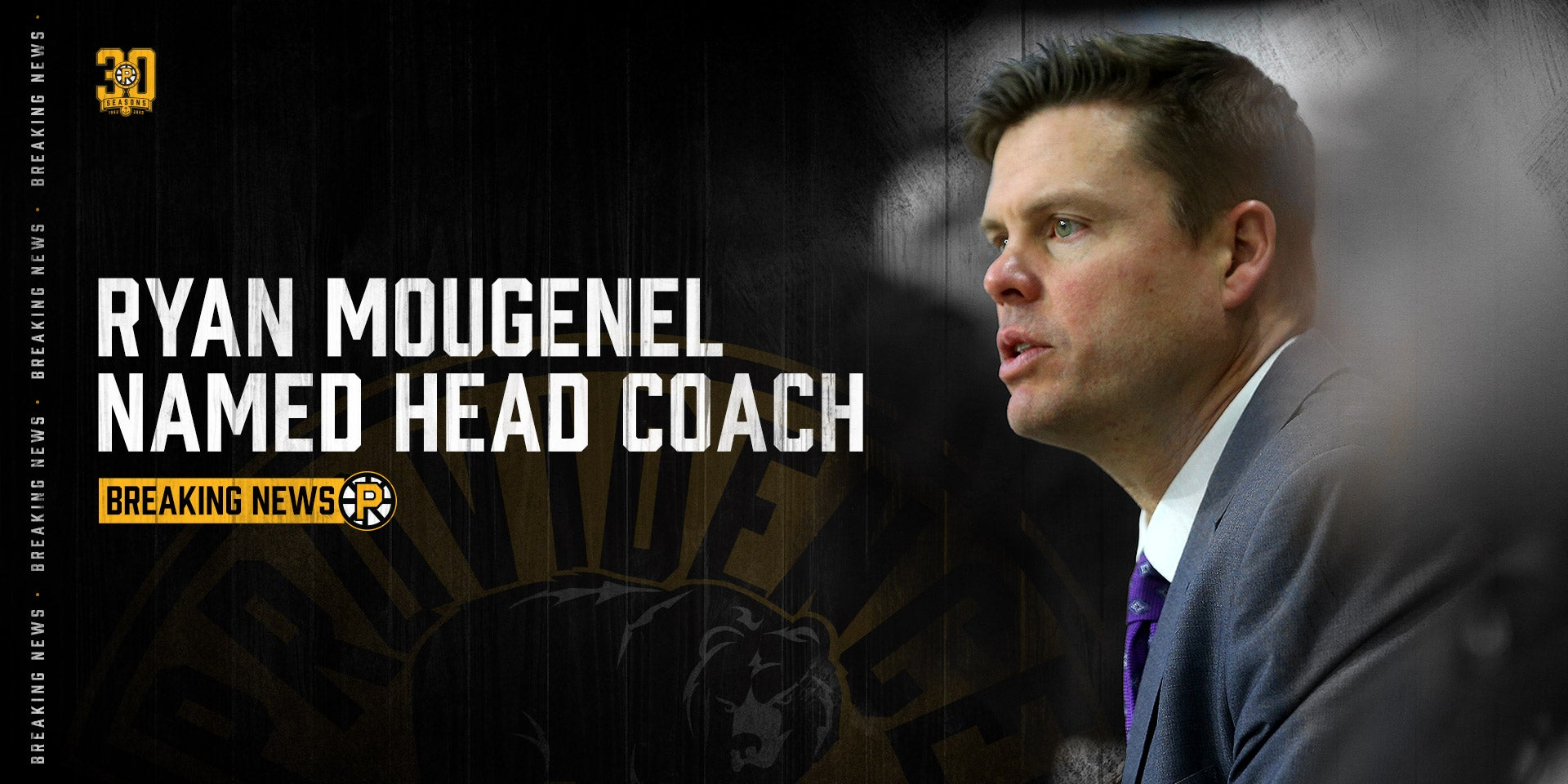 RYAN MOUGENEL NAMED 13TH HEAD COACH OF THE PROVIDENCE BRUINS