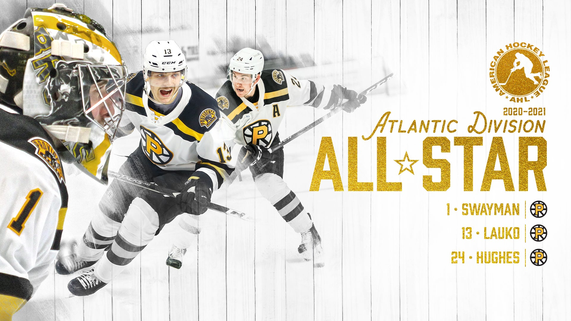 THREE P-BRUINS NAMED TO ATLANTIC DIVISION ALL-STAR TEAM